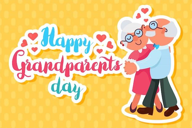 Saluto felice di nonni