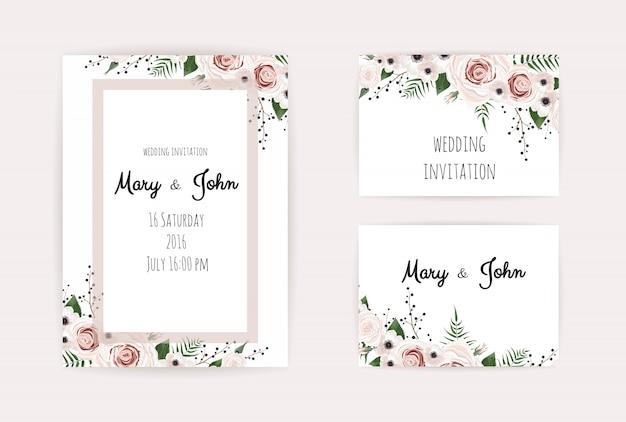 Saluto, modello di invito a nozze da cartolina.