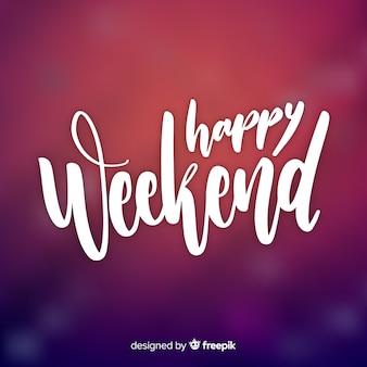 Saluto weekend sfocato