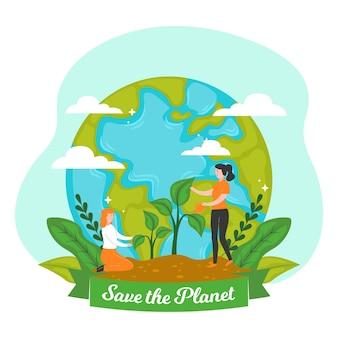 Salva il concetto del pianeta