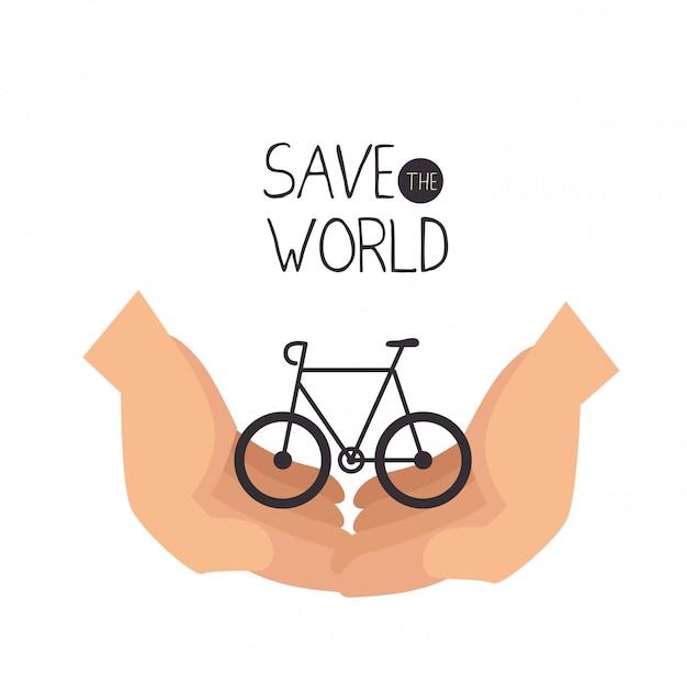 Salva il design del mondo in stile piatto