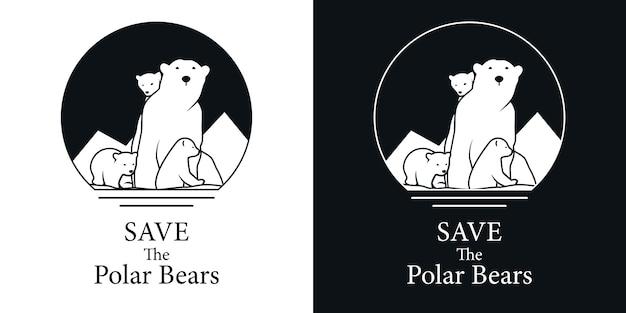 Salva il logo dell'orso polare