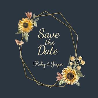Salva il mockup di invito a nozze data