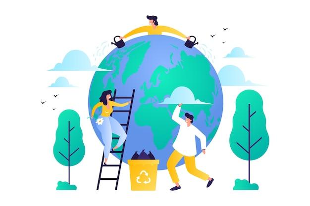 Salva il pianeta illustrato