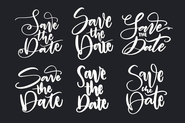 Salva il set di lettere della data