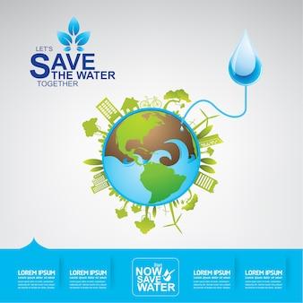 Salva il vettore dell'acqua