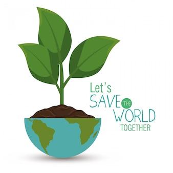 Salva l'illustrazione del mondo