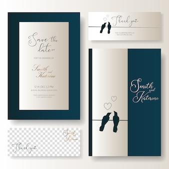Salva la data della carta di nozze