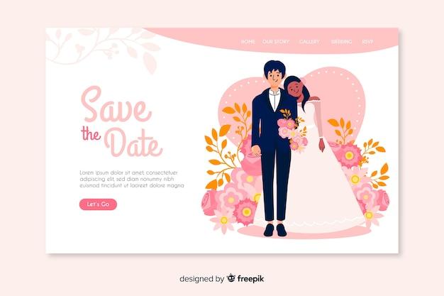 Salva la data di destinazione del matrimonio
