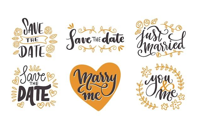 Salva la data raccolta di lettere di nozze