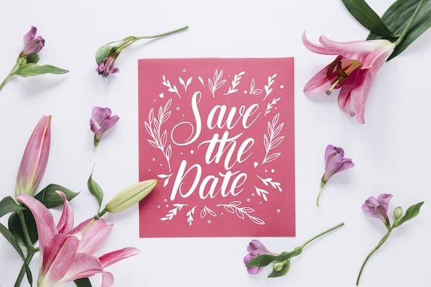 Salva la data scritta design
