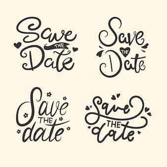 Salva la raccolta di lettere per la data