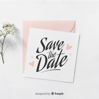 Salva le lettere della data con la foto