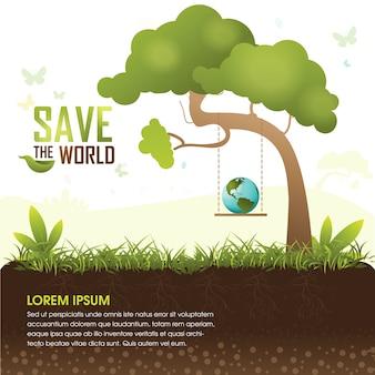 Salvare il concetto di albero eco del mondo