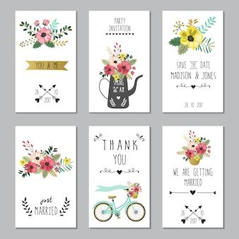 Salvare il modello di carte di nozze data.