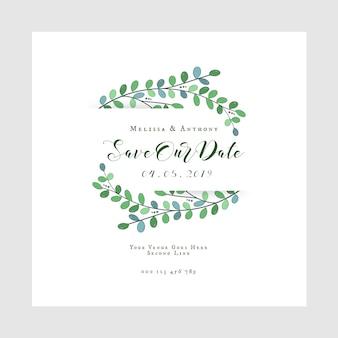 Salvare la nostra data biglietto d'invito matrimonio