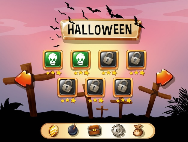 Salvaschermo di gioco a tema halloween