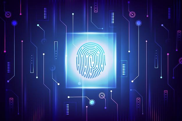 Salvaschermo di impronte digitali al neon