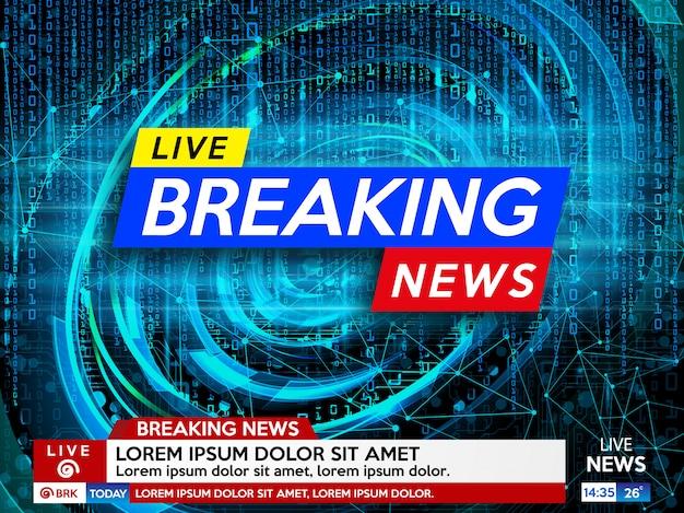 Salvaschermo di sfondo su ultime notizie.