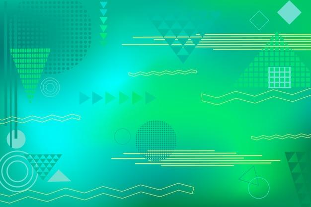 Salvaschermo geometrico astratto verde