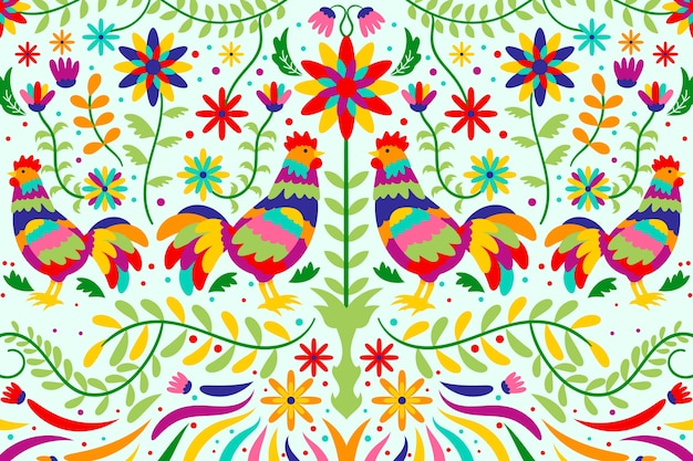Salvaschermo messicano floreale