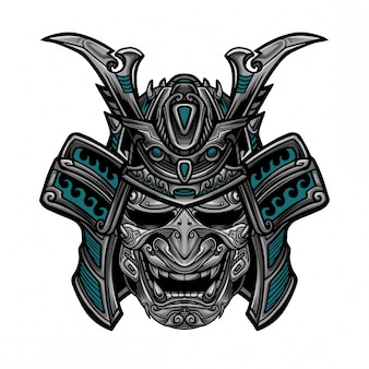 Samurai hanya mask vector