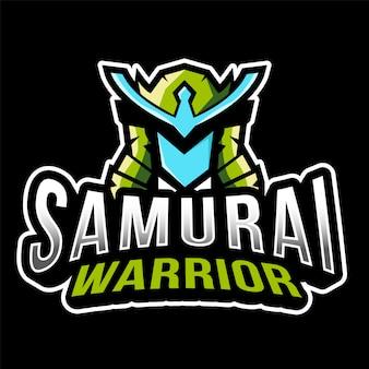 Samurai warrior esport logo template