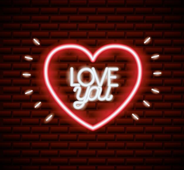 San valentino al neon