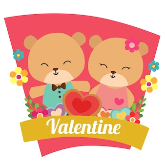 San Valentino ama con coppia di panda