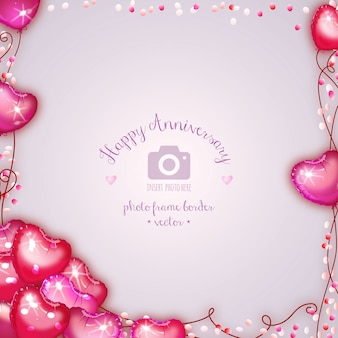 San valentino amore cuore balloons photo frame