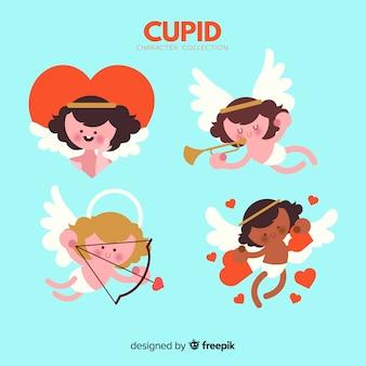 San valentino bella collezione di cupidi