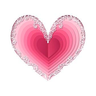 San valentino, cuore astratto.