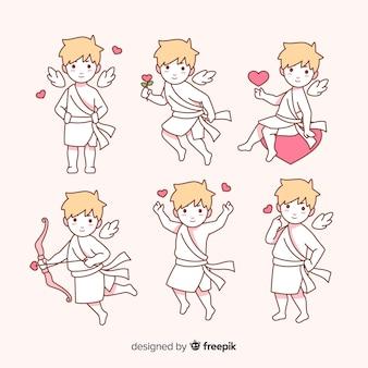 San valentino disegnata a mano collezione cupido