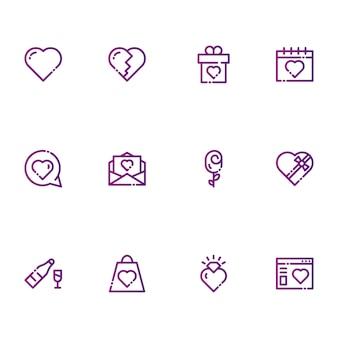 San valentino e icone di amore