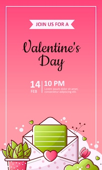San valentino e volantino per matrimonio