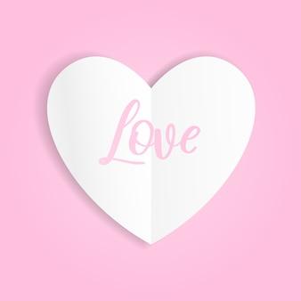 San valentino poster carta a forma di cuore sullo sfondo.