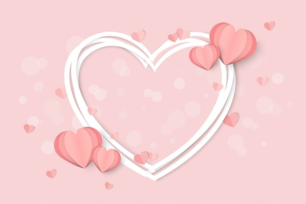 San valentino rosa a forma di cuore