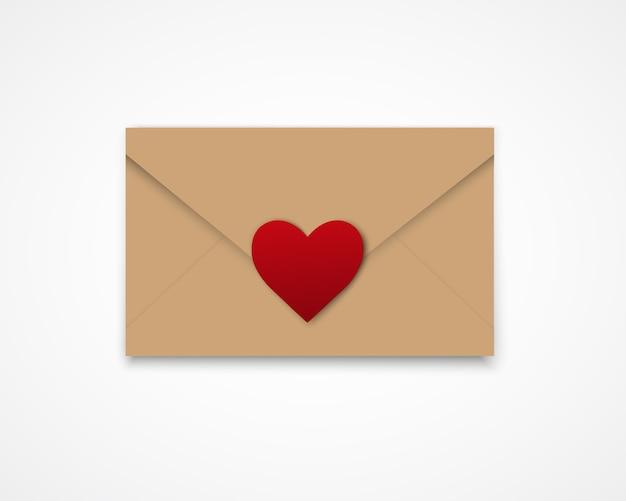San valentino. sfondo astratto con cuore di carta tagliata.