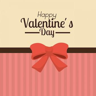 San valentino sfondo con fiocco rosso