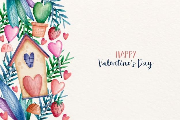 San valentino sfondo in acquerello