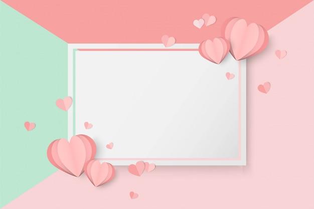 San valentino sfondo rosa a forma di cuore