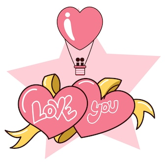 San valentino sfondo vector design