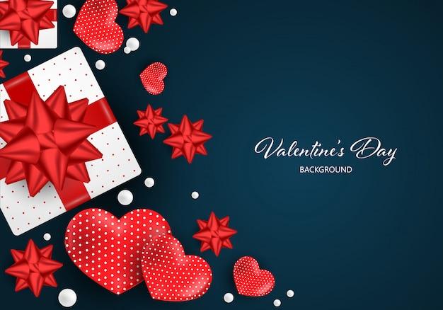 San valentino sullo sfondo.