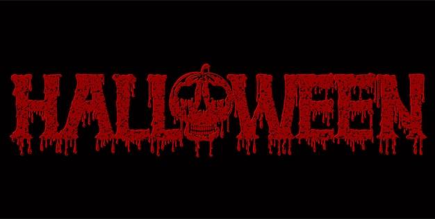 Sangue di testo di halloween