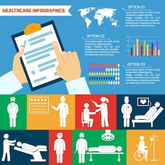 Sanità modello infografica