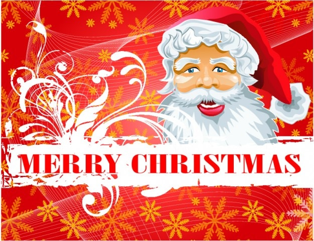 Santa claus merry christmas gretting vettore