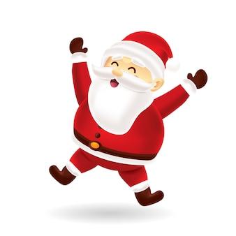 Santa felice saltando