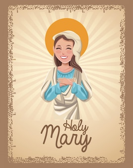 Santa maria santa carta cattolica