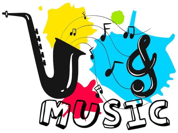 Sassofono con musica di sottofondo in sottofondo