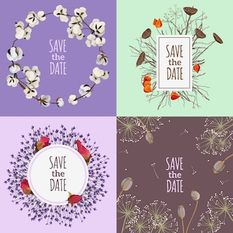 Save the date 2x2 design concept